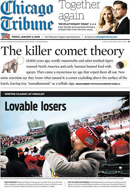 Chicago Tribune Winter Classic Blackhawks Detroit Red Wings front page