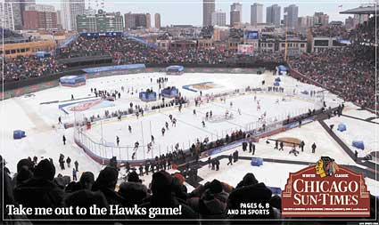 Chicago Sun Times front page Winter Classic cover