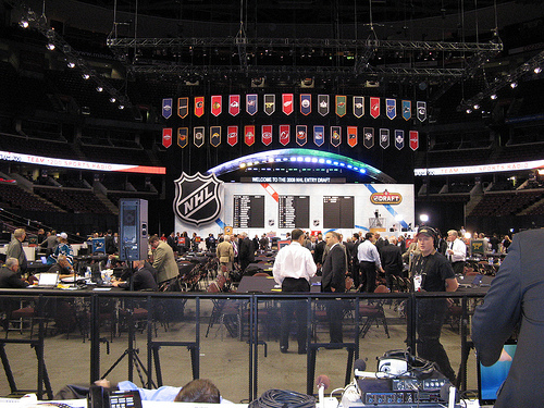 2008 NHL Entry Draft photo press row XM Home ice