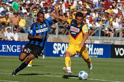 Club America Stanford Salvador Cabanas Obi shot Inter Milan