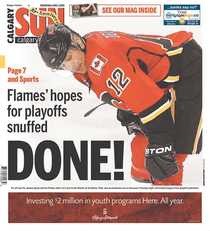 Calgary Sun San Jose Sharks eliminate Calgary Flames from NHL Playoffs