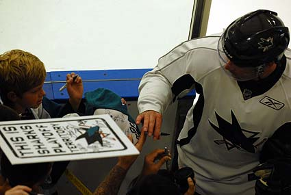 San Jose Sharks open training camp at Sharks Ice in San Jose, Patrick Marleau