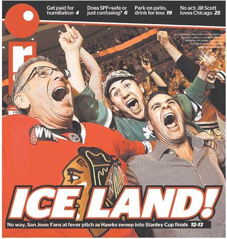 Western Conference Finals San Jose Sharks Chicago Blackhawks Red Eye Ice Land