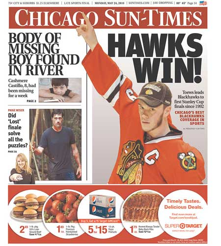 Western Conference Finals San Jose Sharks Chicago Blackhawks Chicago Sun Times Hawks Win