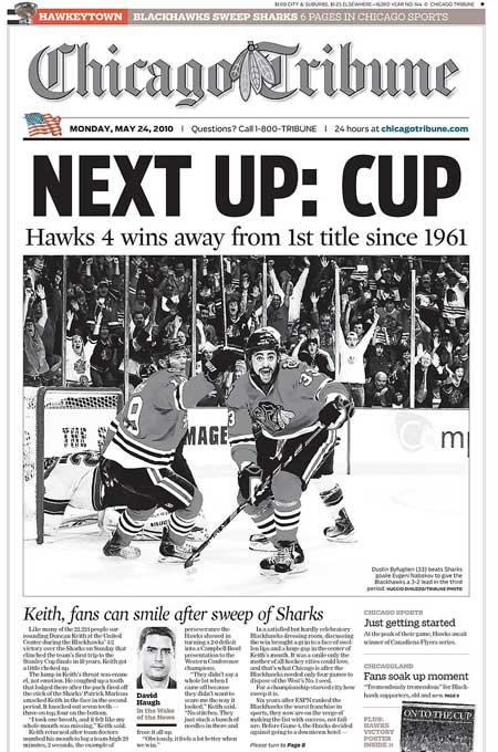 Western Conference Finals San Jose Sharks Chicago Blackhawks Chicago Tribune Hawkeytown