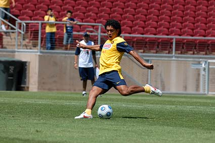 Club America Futbol open practice World Football Challenge Stanford stadium