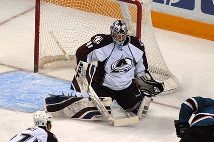 Colorado Avalanche goaltender Craig Anderson San Jose Sharks Stanley Cup Playoffs