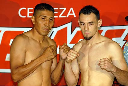 ESPN Friday Night Fights weigh-in Robert Guerrero Efren Hinojosa