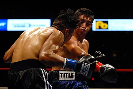 Fight Night at the Tank boxing at HP Pavilion in San Jose Jonathan Alcantara Juan Topoz