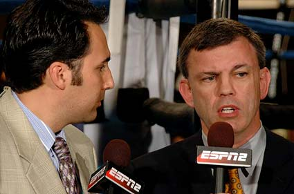 ESPN Friday Night Fights boxing announcers Joe Tessitore and Teddy Atlas San Jose