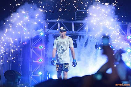 Gegard Mousasi enters the ring for a Showtime Strikeforce fight with Renato Babalu Sobral