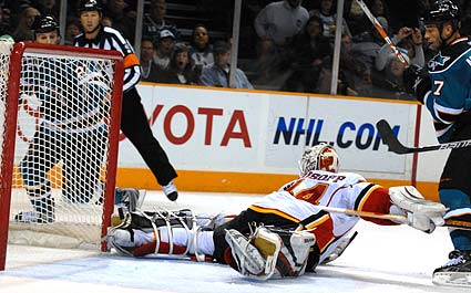 Miikka Kiprusoff save of the year against San Jose
