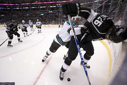 San Jose Sharks Los Angeles Kings Rob Blake Michal Handzus