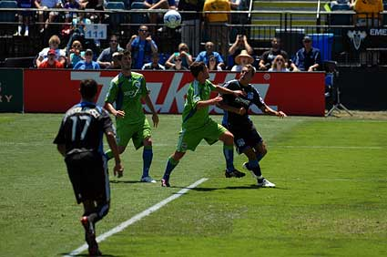 San Jose Earthquakes Darren Huckerby goal Seattle Sounders FC MLS