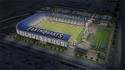 new San Jose Earthquakes soccer stadium design