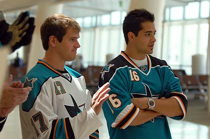 San Jose Sharks themed Sharks Cage restaurant Mineta San Jose International Airport