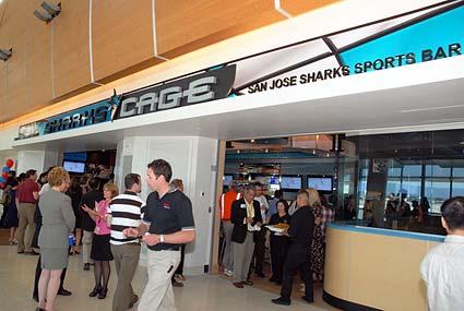 San Jose Sharks Cage restaurant Terminal B Southwest