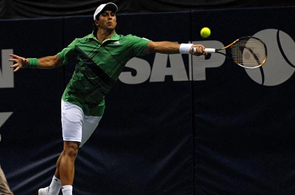 ATP 11 ranked Fernando Verdasco SAP Open exhibition tennis Pete Sampras 2010