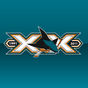 San Jose Sharks 20th anniversary logo 1991 to 2011
