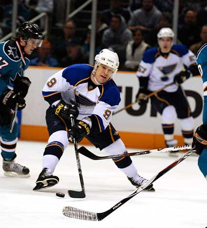 Paul Kariya St Louis Blues vs San Jose Sharks
