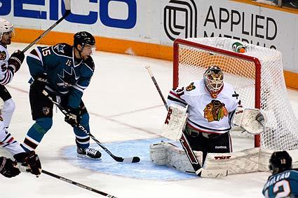 Western Conference Finals San Jose Sharks Chicago Blackhawks Joe Thornton Antti Niemi