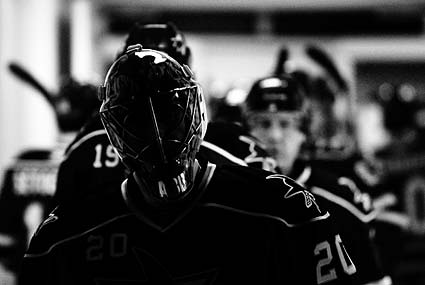 San Jose Sharks goaltender Evgeni Nabokov hockey photos