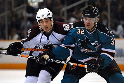 San Jose Sharks Colorado Avalanche NHL hockey photo