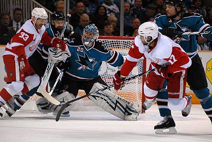 San Jose Sharks Stanley Cup Playoffs Evgeni Nabokov save
