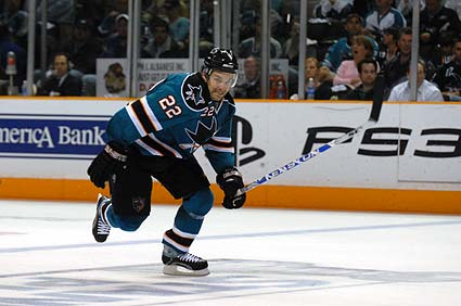 San Jose Sharks defenseman Dan Boyle