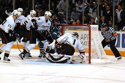 San Jose Sharks Patrick Marleau Stanley Cup Playoffs game winning goal Anaheim Ducks