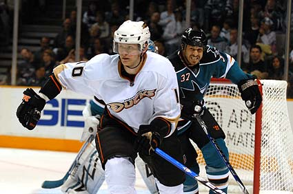 San Jose Sharks defenseman Brad Lukowich Stanley Cup Playoffs Anaheim Ducks photo gallery