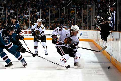 San Jose Sharks face off against Chicago Blackhawks tonight NHL hockey