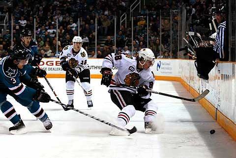 San Jose Sharks face off against Chicago Blackhawks tonight NHL hockey