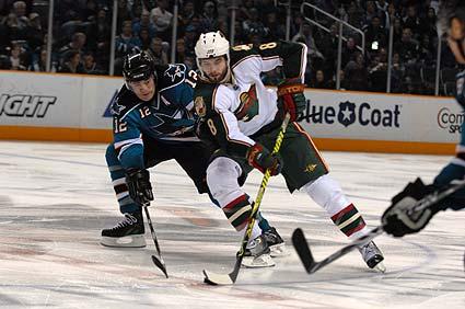 San Jose Sharks Minnesota Wild NHL hockey pic Patrick Marleau Mikko Koivu