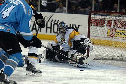 San Jose Sharks Colorado Avalanche NHL hockey Thomas Greiss save