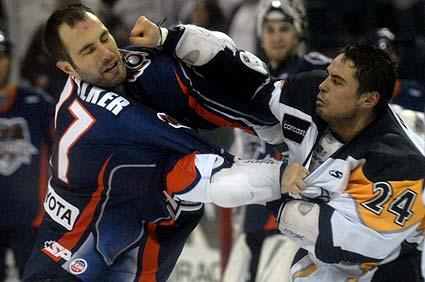 Hockey fight photo