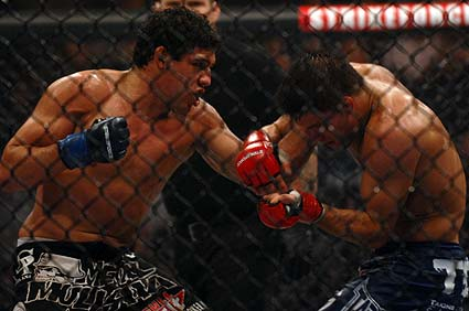 San Francisco's Gilbert El Nino Melendez downed Josh Thomson for Strikeforce Lightweight title