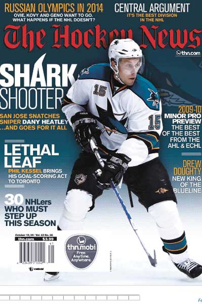 Dany Heatley cover of The Hockey News