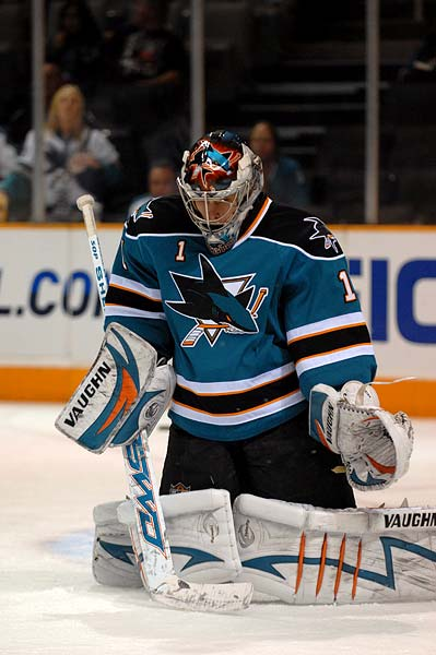 San Jose Sharks goaltender Thomas Greiss Goalies World Magazine rookie of the week