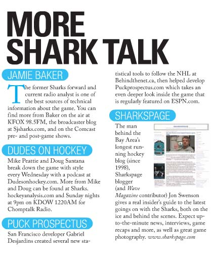The Wave Magazine October San Jose Sharks issue for more hockey information