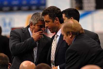 2010 NHL Entry Draft Staples Center Los Angeles San Jose Sharks first round Todd McLellan Doug Wilson