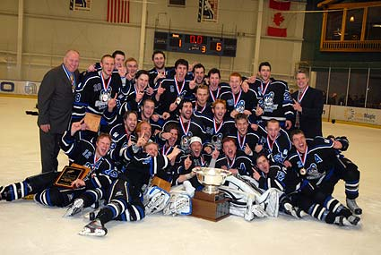Grand Valley State University celebrates first ACHA D2 National Championship in San Jose