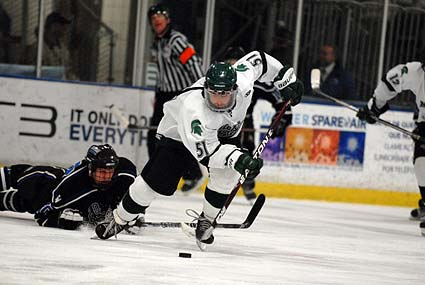 ACHA D2 National Tournament Michigan State forward Zack Rourke