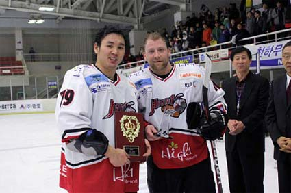 ALIH 2009-10 season awards regular season goal point scoring champion Alex Kim assist leader Tim Smith