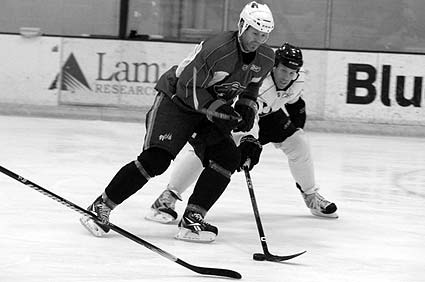 Sharks Ice informal scrimage San Jose Owen Nolan Joe Thornton