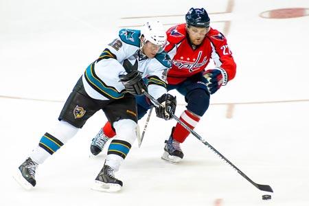 San Jose Sharks Patrick Marleau Washington Capitals Karl Alzner