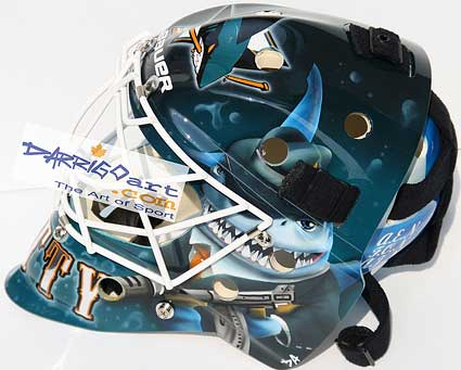 New Antero Niittymaki San Jose Sharks mask Frank Nitty inspired David Arrigo