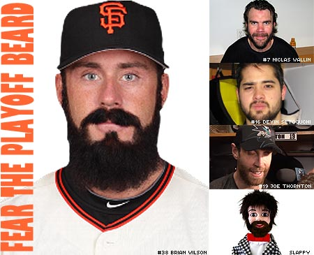 San Francisco Giants Brian Wilson beard vs San Jose Sharks Stanley Cup Playoff beards beardathon