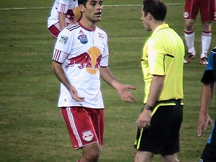 New York Red Bulls Mexico captain Rafael Marquez MLS Eastern Confernce Playoff Semifinals argue with referee