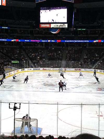 Dallas Stars at Colorado Avalanche hockey photo Mike Sasson